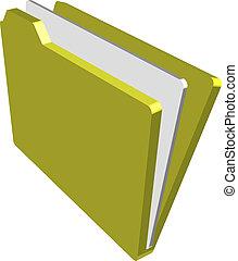 folder Illustration - An illustration of a folder containing...
