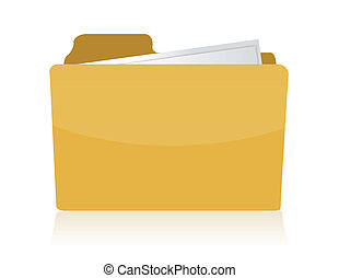 Folder illustration isolated over white