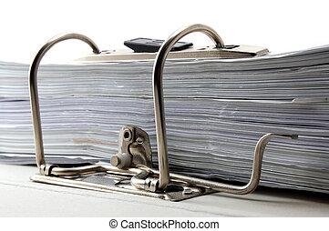 folder in an office - folder in a office. stress at work in...
