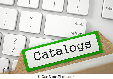 Folder Index with Inscription Catalogs. - Green Card Index ...