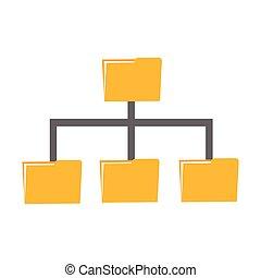 Folder management. Folder sharing data or file backup...