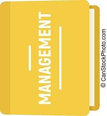 Folder management icon, flat style