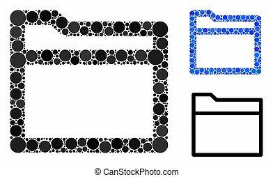 Folder Mosaic Icon of Spheric Items