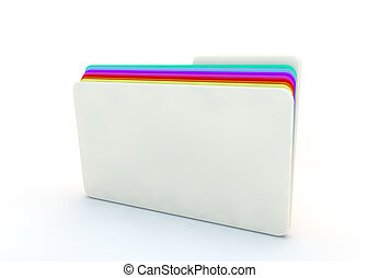 folder of different information with coloured dividers