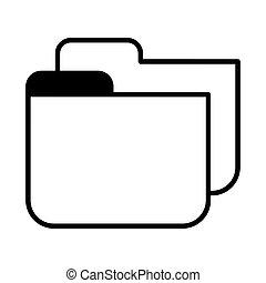 folder of file on white background