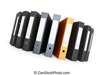folder on a circle office folders