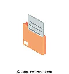 folder paper correspondence postal mail isometric