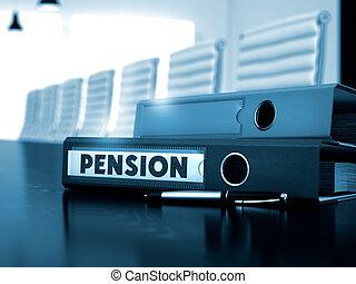folder., pension, image., fichier, brouillé