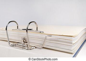 folder - Close up of a business folder.