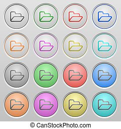 Folder plastic sunk buttons