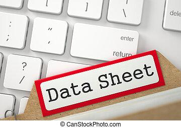 Folder Register with Data Sheet. 3D.