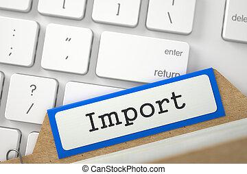 Folder Register with Inscription Import. 3d.