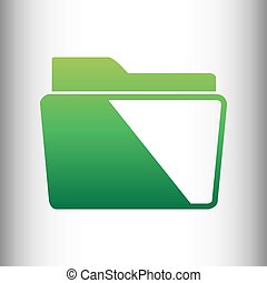 Folder sign. Green gradient icon