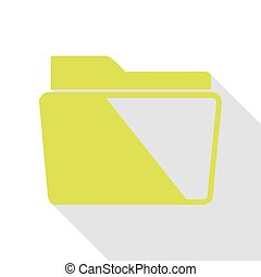 Folder sign illustration. Pear icon with flat style shadow path.