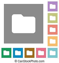 Folder square flat icons