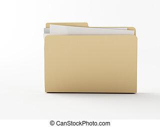 folder - a brown 3d maded folder