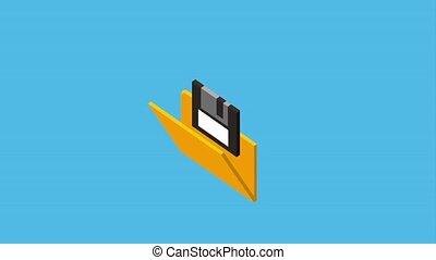 folder storage floppy backup file animation hd