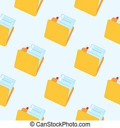 Folder symbol seamless pattern. Folder icon backdrop.
