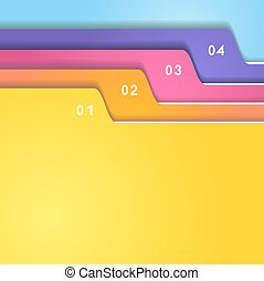 Folder tab set - The color folder tabs collection