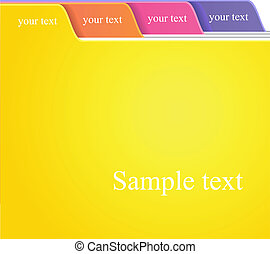 folder tabs - The color folder tabs collection
