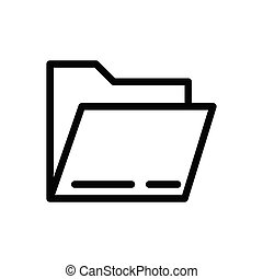folder thin line icon
