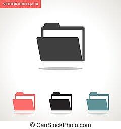 folder vector icon isolated on white background