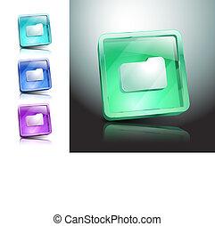 Folder. Vector illustration file icon symbol