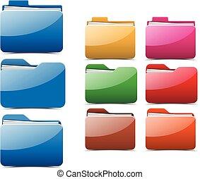 Folder. Vector illustration.