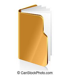 Vector illustration of an open folder