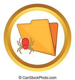 Folder with a bug vector icon