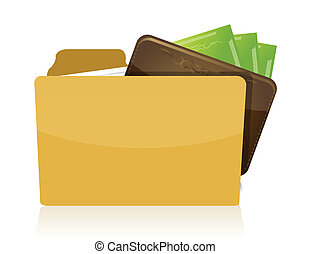 folder with a wallet inside