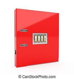 Folder with combination lock