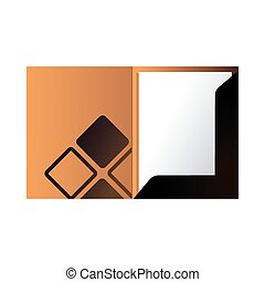 folder with corporate image and colors vector illustration ...