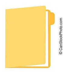 Folder with documents vector cartoon illustration.