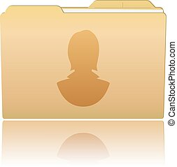 Folder with female silhouette
