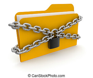 folder with files and lock - Folders and lock. Image with ...