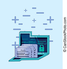 folder with files data security