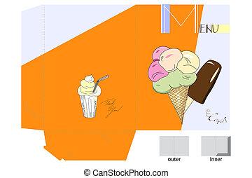 folder with ice-cream