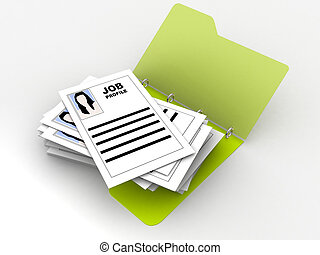 folder with job profiles - illustration of a folder with...