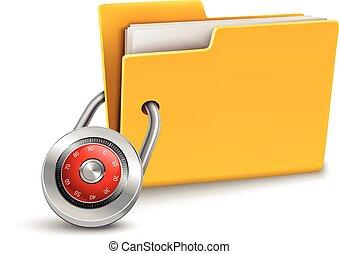 Folder with lock