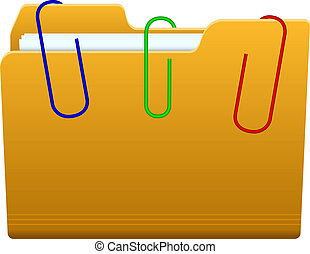 folder with paperclip