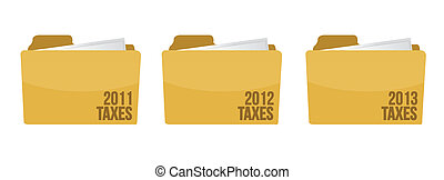 folder with tax documents illustration design over white