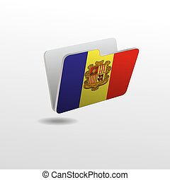 folder with the image of the flag of ANDORRA
