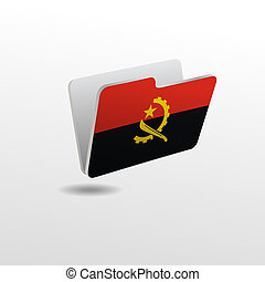 folder with the image of the flag of ANGOLA
