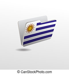 folder with the image of the flag of URUGUAY