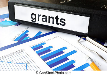 Folder with the label grants