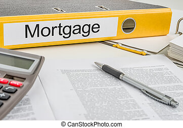 Folder with the label Mortgage