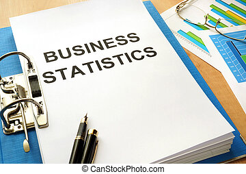 Folder with title Business Statistics.