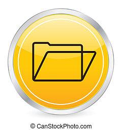 folder yellow circle icon