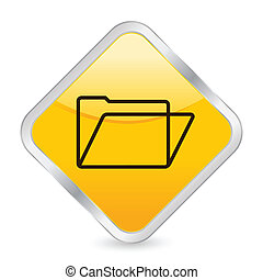 folder yellow square icon